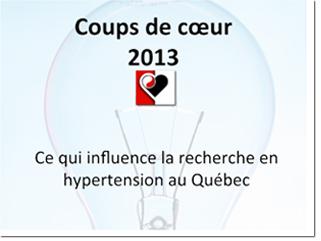 Les études fondamentales les plus marquantes dans le domaine de la recherche en hypertension au Québec